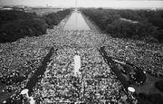 An aerial view of the National Mall during the Aug. 28, 1963, March on Washington.