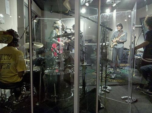 The High Hopes band at WERS, Emerson College's radio station, in 2011.