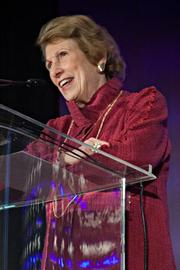 Toni Wolfman, executive adviser at the Center for Women and Business and a previous Advancing Women honoree, introduced Christine Freyermuth of PwC, recipient of the Emerging Leader award.
