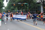 A number of Charlotte's largest companies were represented in the parade. US Airways (NYSE:LCC) has its largest hub at Charlotte Douglas International Airport, operating 90 percent of total traffic at CLT and employing thousands of workers in the area.