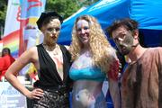 Costumed festival-goers pose for a photo at Charlotte Pride 2013.