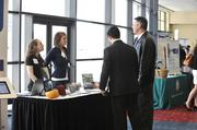 Attendees participate in the Wellness Expo that preceded the awards luncheon.