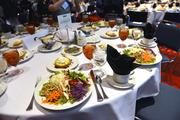 A healthy but abundant lunch was served at the Healthiest Employers awards luncheon.