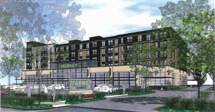 ESG Architects' design of Lennar Multifamily's new apartment project proposed for York Avenue in Edina