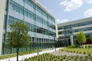 An exterior view of 6105 Tennyson Parkway, which totals 272,360 square feet of new corporate office space.
