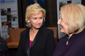 Tina Brown, editor-in-chief of The Daily Beast and Newsweek, and Melanne Verveer, U.S. Ambassador-at-large for Global Women's Issues, in New York September 28, 2012.
