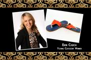"Erin Cigich, Clickbooth.com LLC Young Category Winner Why Erin is a big deal: As president of Clickbooth, Erin negotiates with Fortune 500 companies, manages a $10 million monthly media budget and acts as a key point of contact for the company's largest partners. In her shoes: ""Three things - they are flip flops and Clickbooth has a casual environment; they are blue and orange which represents UF; and they are Kino's, which are only sold in Key West, which is one of my favorite places to vacation."""
