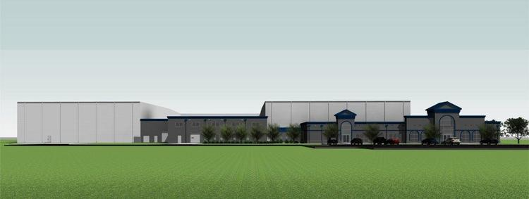An artist's rendering of the new $24 million 166,500-square-food distribution facility in Dyersburg.