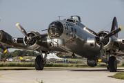 The B-17 gets ready to take off.