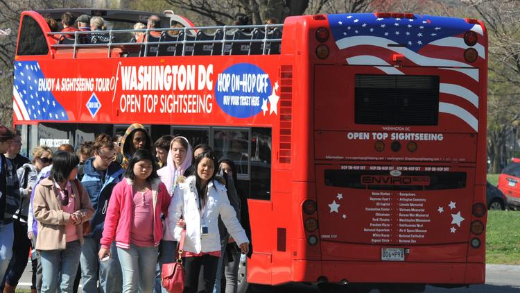 The popular sightseeing tours around the National Mall are run by Big Bus Tours, a subsidiary of Open Top Sightseeing.