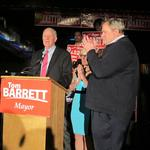After easy win, Mayor Tom Barrett says he will push for 'living wage'