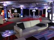 Politico turned meeting space on Packard Place's fifth floor into a lounge, event space and gathering spot during the DNC.