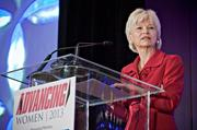 Giving the keynote speech at the Boston Business Journal's Advancing Women breakfast was Boston Children's Hospital's president and COO Sandra Fenwick, who said that even with her medical background, she found she preferred working with spreadsheets rather than bedsheets.