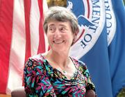 Secretary of the Interior Sally Jewell gives keynote address at a naturalization ceremony Monday for people becoming U.S. citizens.