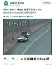 Pop-culture references frequently turn up in Mike Allende's tweets for WSDOT.