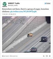 A tweet by Mike Allende of the Washington Department of Transportation social media team.