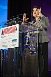 """At the Boston Business Journal's Advancing Women breakfast, Miki Akimoto, SVP, market philanthropic director at Bank of America/Merrill Lynch, presented a talk, """"The Power of Women's Philanthropy,"""" part of which outlined how women donate and volunteer differently from men."""