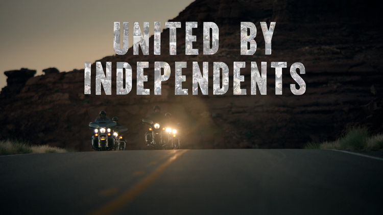 "A new Harley-Davidson campaign from VSA Partners/Chicago includes the tagline ""United By Independents."""