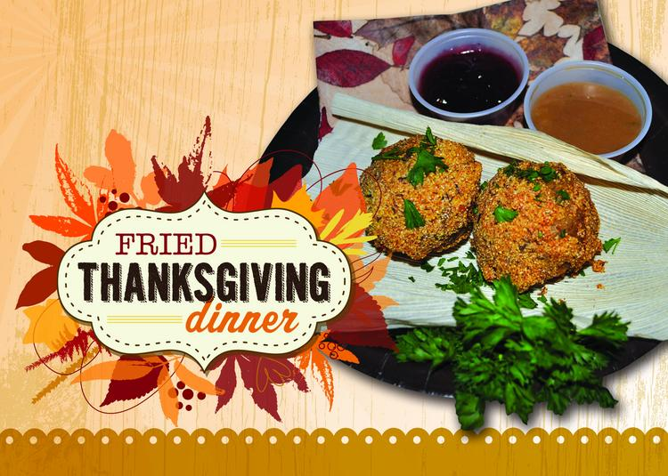 Justin Martinez created this poster for his Fried Thanksgiving dinner that will compete for a prize at the State Fair of Texas