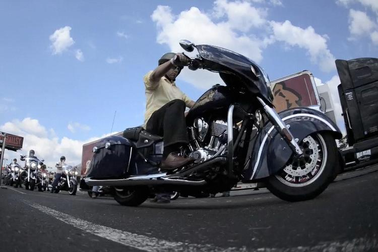 MSPBJ motorcycle enthusiast Derek Thomson took Indian's new Chieftain model for a spin.