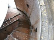 The uppermost flight of stairs at Graves Island lighthouse.