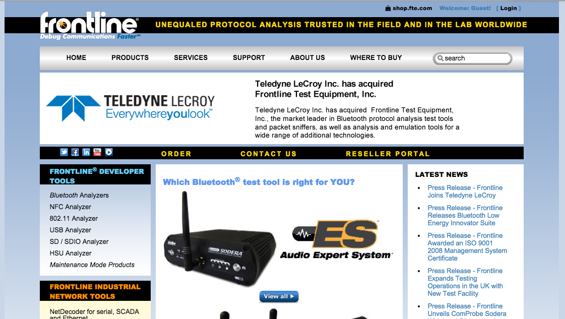 Teledyne buys Frontline Test Equipment - L A  Biz