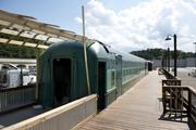 The train cars at The Station at Grants Mill, which will feature restaurants, and possibly a coffee shop and a museum.