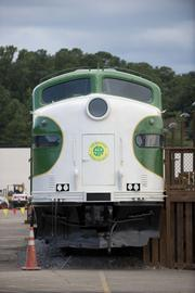 The train at The Station at Grants Mill.