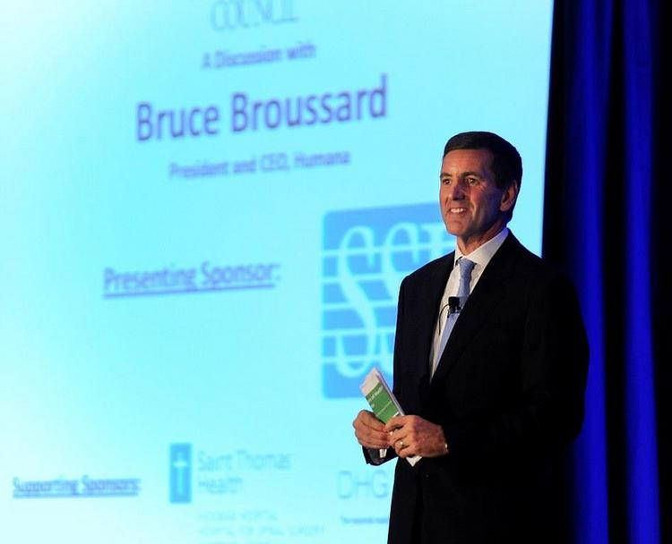 Bruce Broussard, CEO of Louisville-based Humana