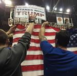 Trump in Albany: Big crowd. Loud protests. 'New York values.'