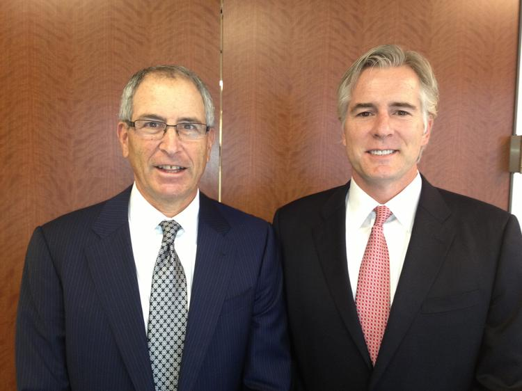Barry Dorfman (left), president of JLL's Rocky Mountain region, and Bob Nowak, former COO of MKP and now JLL managing director.