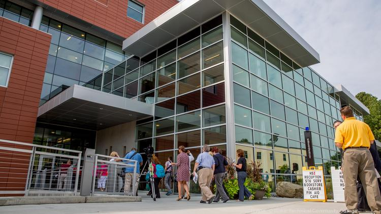 The Health Sciences 2 building at Wake Tech. Wake County's colleges and universities contribute $8 billion to the local economy.