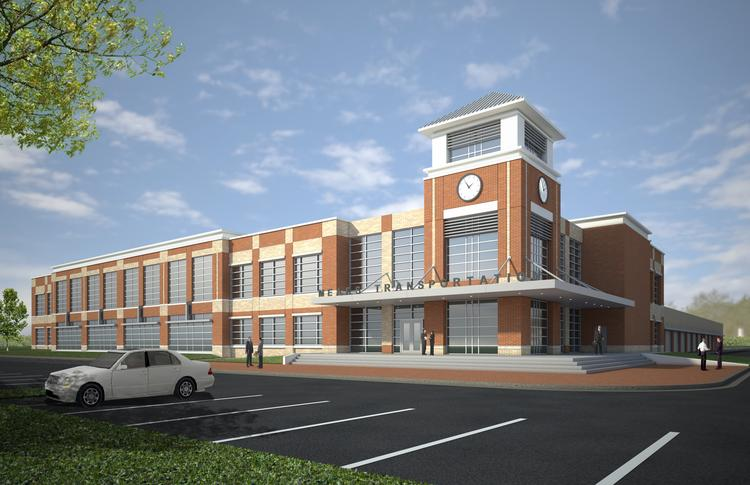 Rendering of the planned $20 million Mears Transportation Group Inc. headquarters in Orlando.