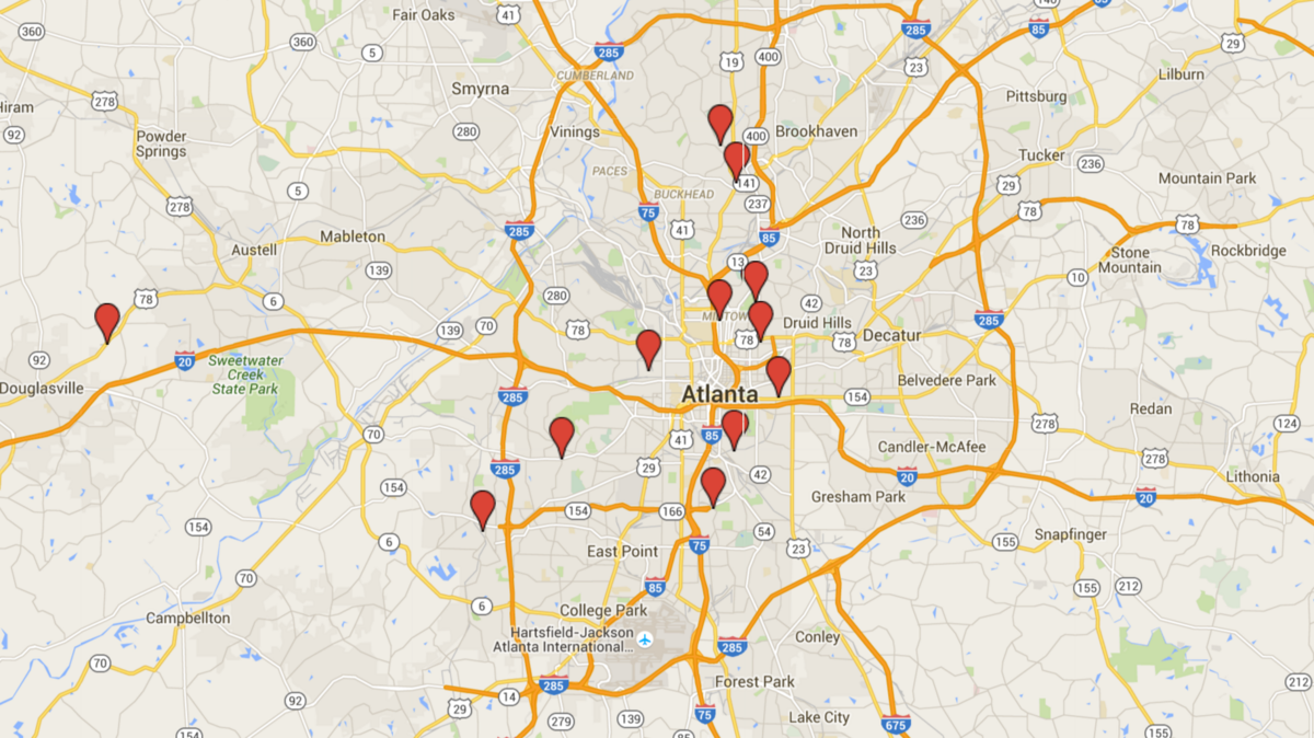 Where are the Google Fiber huts in Atlanta?   Atlanta Business