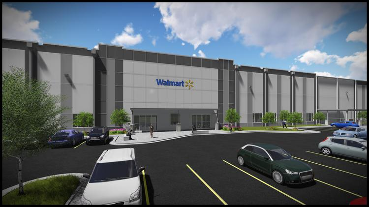 Rendering of Walmart's new 2.2 million-square-foot distribution center coming to Polk County.