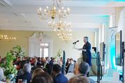 """N.C. Commerce Secretary Sharon Decker, a former Duke Energy exec and one-time chair of the Charlotte Chamber, delivers the keynote address at Queens University of Charlotte's BusinessWoman of the Year luncheon. Decker spoke on lessons she's learned from prominent local leaders throughout her career, including the need to prioritize and to sometimes simply """"be still."""""""