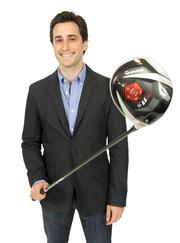 2013 PSBJ 40 under 40 honoree Adam Schoenfeld, CEO and co-founder, of Simply Measured. Schoenfeld played golf during college.