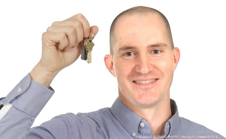 2013 PSBJ 40 under 40 honoree Aidan Poile, Director of Real Estate, of Plymouth Housing Group.  Poile says keys to your home mean a lot to him and his work at Plymouth Housing.