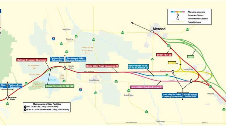 High speed rail authority plans to add merced bakersfield to its the planned high speed rail route into the san joaquin valley with a wye malvernweather Gallery