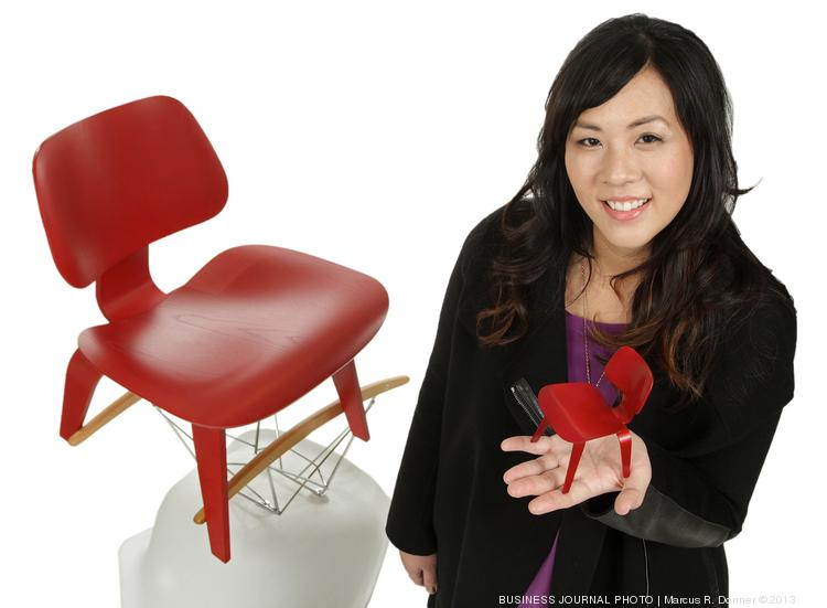 2013 PSBJ 40 under 40 honoree Jenny Lam, Chief Design Officer/Co-Founder, of Jackson Fish Market. Lam is inspired by the sensibility and fresh design Charles & Ray Eames brought to the Eames chair.