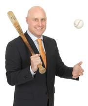 2013 PSBJ 40 under 40 honoree Jesse Ottele, Senior Vice President, of CBRE. Ottele played baseball during his college days at Cal Lutheran University.