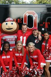 Adkins and Tancredi also met some of the OSU cheerleaders.