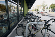 New Seasons Market on North Williams has 64 bike parking spots, the most in the company.