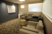 Consultation rooms in Legacy's new ICUs feature subdued hues and gentle lighting.