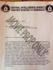 Burn Notice CIA letter prop