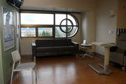 Legacy's new ICUs offer a window with a view in each patient room, as well as a couch for visiting family members.