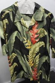 Burn Notice black and green Hawaiian print shirt