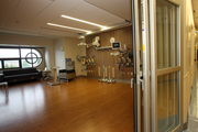 Rooms in the new Legacy ICU are spacious. Floors are vinyl but look like wood.