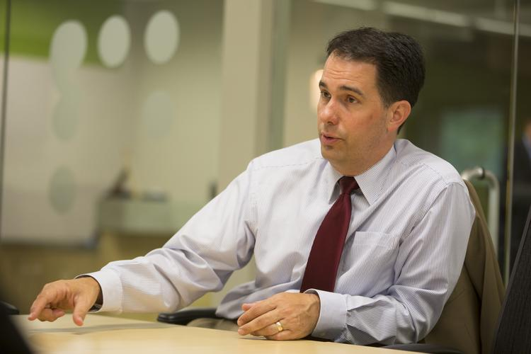 Wisconsin Gov. Scott Walker called on the real estate industry to echo his message of Wisconsin's fiscal stability.