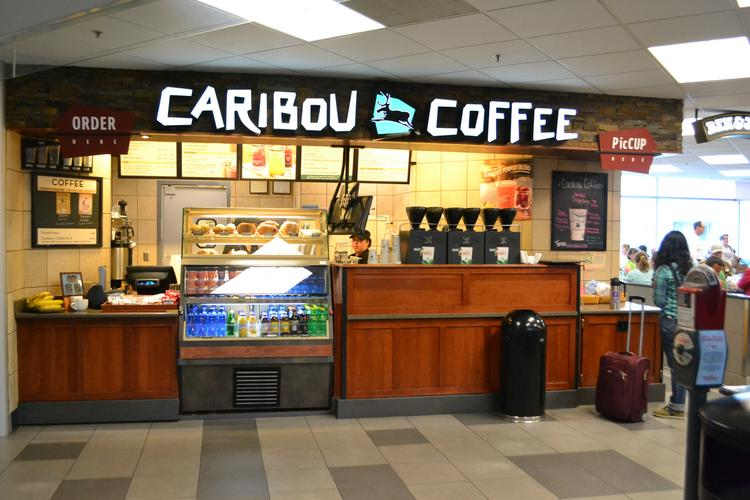A Caribou location at Denver International Airport